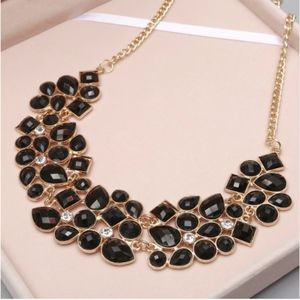 Jewelry - PREVIEW Black Jewel Gemstone Bib Style Necklace